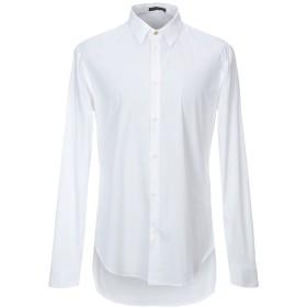 《期間限定セール開催中!》VERSACE メンズ シャツ ホワイト 44 コットン 76% / ナイロン 19% / ポリウレタン 5%