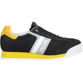 《セール開催中》CESARE PACIOTTI 4US メンズ スニーカー&テニスシューズ(ローカット) ブラック 6 革 / 紡績繊維