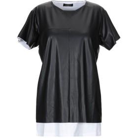 《期間限定 セール開催中》VAR/CITY レディース T シャツ ブラック XS コットン 100%