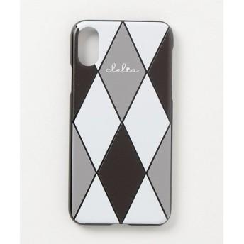 カッズ iPhoneケース iPhoneXケース iPhoneXsケース スマホケース レディース ダイヤ柄 レディース ブラック系1 F 【KAZZU】