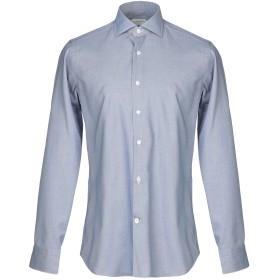 《期間限定セール開催中!》GUGLIELMINOTTI メンズ シャツ ブルーグレー 38 コットン 100%