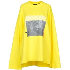《期間限定 セール開催中》FENTY PUMA by RIHANNA レディース スウェットシャツ イエロー XXS コットン 78% / ポリエステル 17% / ポリウレタン 5% ls crew neck t-shirt