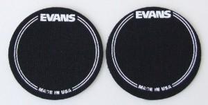 Evans EQPB1 Black Nylon Bass Drum Patch Twin Pack