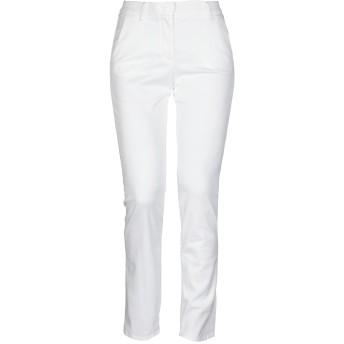 《セール開催中》BRUNO MANETTI レディース パンツ ホワイト 46 テンセル 57% / コットン 40% / ポリウレタン 3%