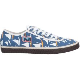 《セール開催中》MARNI メンズ スニーカー&テニスシューズ(ローカット) ブルー 41 紡績繊維