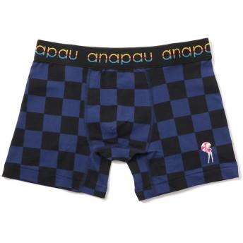 ビーバー ANAPAU/アナパウ チェッカーフラッグ/ボクサーパンツ メンズ BLUE L 【BEAVER】