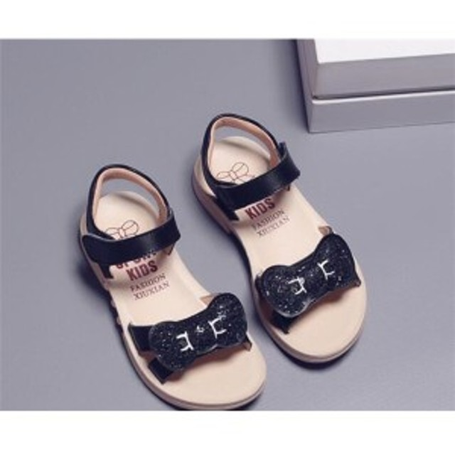 34650d79f226f サンダル 女の子 子ども キッズ 夏 サマー ジュニア ローヒール ダンス 靴 子供用 可愛い ミュール 2018 滑り