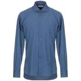 《セール開催中》BRANCACCIO メンズ シャツ ブルー 40 コットン 100%