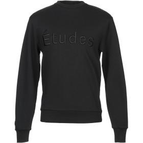 《期間限定 セール開催中》TUDES STUDIO メンズ スウェットシャツ ブラック XS 80% コットン 20% ポリエステル