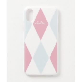 カッズ iPhoneケース iPhoneXケース iPhoneXsケース スマホケース レディース ダイヤ柄 レディース ホワイト系2 F 【KAZZU】