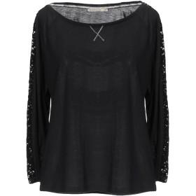 《期間限定セール中》PATRIZIA PEPE レディース T シャツ ブラック 0 ポリエステル 50% / レーヨン 50%