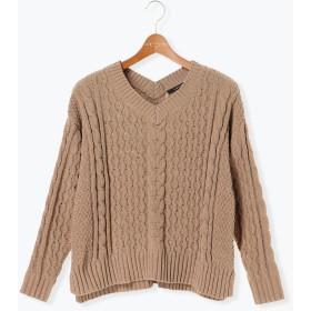 ニット・セーター - Lugnoncure モールVネックプルオーバー