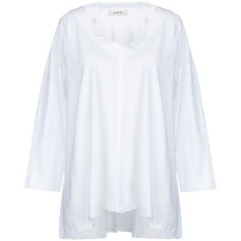 《セール開催中》ALPHA STUDIO レディース T シャツ ホワイト 40 コットン 100%
