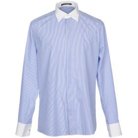 《セール開催中》SIMBOLS メンズ シャツ ブルー XXL コットン 100%