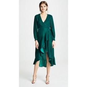 ドレス カクテルドレス  パーティドレス レディース【Casa Estrella Josephine Wrap Dress】Forest Green