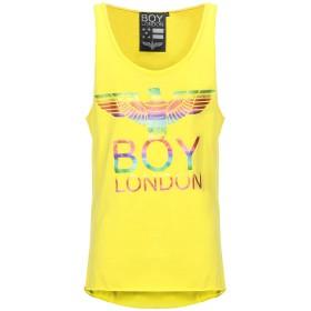 《期間限定 セール開催中》BOY LONDON メンズ タンクトップ イエロー XS コットン 100%