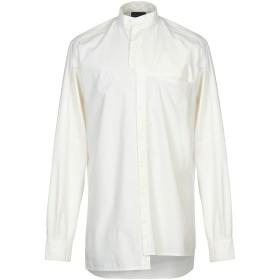 《期間限定 セール開催中》DARK LABEL メンズ シャツ アイボリー M コットン 100%