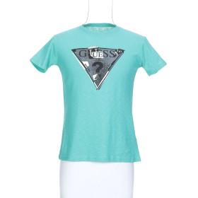 《期間限定 セール開催中》GUESS メンズ T シャツ ライトグリーン 3XL コットン 95% / ポリウレタン 5%