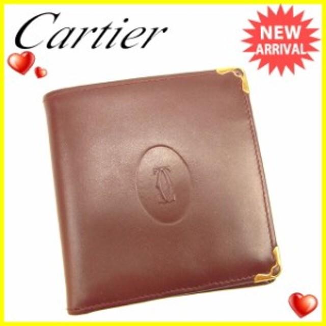 4c64ddd4e3dc カルティエ Cartier 二つ折り財布 財布 小物 サイフ レディース メンズ 可 マストライン 【中古】