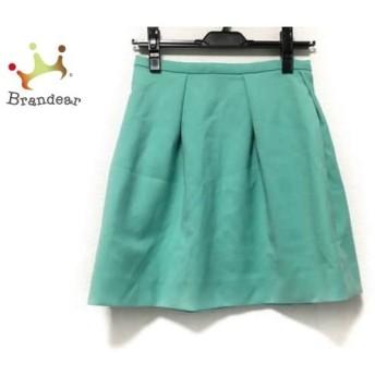 エストネーション ESTNATION スカート サイズ36 S レディース 美品 ライトグリーン bis       スペシャル特価 20191028