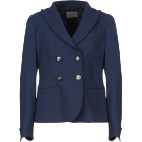《セール開催中》ARMANI COLLEZIONI レディース テーラードジャケット ブルー 40 バージンウール 96% / ポリウレタン 4%