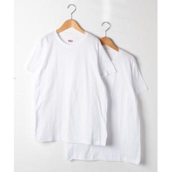 リーバイス アンダーウェア 100SF 2P丸首シャツ メンズ ホワイト M 【Levi's under wear】