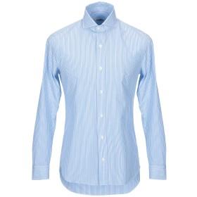 《セール開催中》SALVATORE PICCOLO メンズ シャツ アジュールブルー 39 コットン 100%