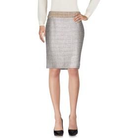 《9/20まで! 限定セール開催中》XANDRES レディース ひざ丈スカート ライトグレー 36 アクリル 48% / ウール 23% / コットン 21% / ポリエステル 5% / 指定外繊維 3%