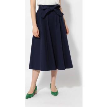 ウエストリボンスカート ネイビー1