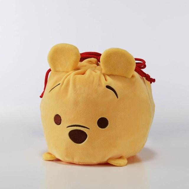 ポーチ 小物入れ おしゃれ ディズニー のびのび巾着収納袋/ディズニー ツムツム カラー 「くまのプーさん」