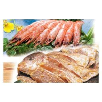 【天草産】 車海老と天然鯛の黄金漬けセット