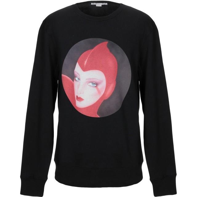 《期間限定 セール開催中》STELLA McCARTNEY メンズ スウェットシャツ ブラック S コットン 93% / ポリウレタン 7%