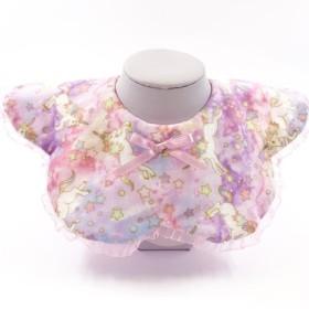「金色のユニコーンに手が届く」シフォンは花の形をしたビブのポケットを飾った
