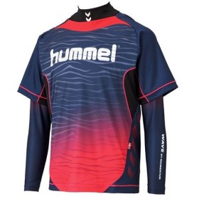 ヒュンメル ジュニア トレーニングウェア サッカー フットサル HPFC-ジュニアプラシャツ+インナーセット HJP7109 7024