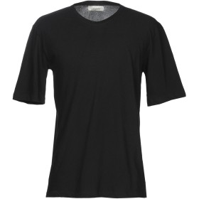 《期間限定 セール開催中》LANEUS メンズ T シャツ ブラック S コットン 96% / ナイロン 4% T-SHIRT M/C TINTA UNITA SPACCHI