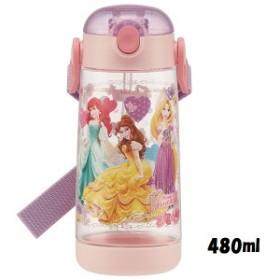 スケーター/PDSH5/ワンプッシュストローボトル[480ml]●ディズニー プリンセス●//水筒 ボトル プラスチック製水