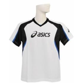 (アシックス) ASICS/JRプラクティスシャツ半袖11SS/ホワイトXブラック/XS631B-0190