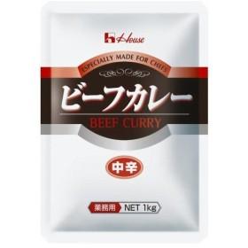 ハウス食品 ビーフカレー(中辛) 1kg 代引不可