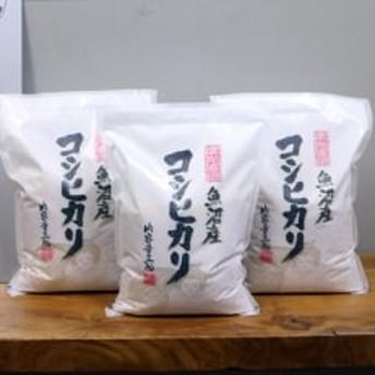 【無洗米】 お米マイスター厳選 魚沼産コシヒカリ 合計9kg(3kg×3袋)