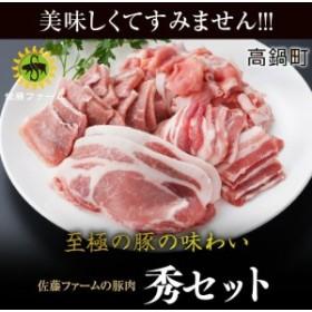 ns <高鍋町産 佐藤ファームの豚肉 秀セット合計2.4kg>1か月以内に順次出荷