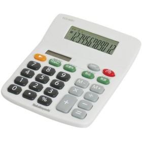 ナカバヤシ 電卓 デスクトップ 12桁 スタンダード Sタイプ ECD-SD01GY グレー 代引不可