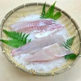 養殖タイ スキンレスロイン【カマ無し・皮無し 背・腹分割 4筋】約400g