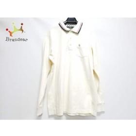 マンシングウェア 長袖ポロシャツ サイズL メンズ アイボリー×黒×レッド チェック柄   スペシャル特価 20190710