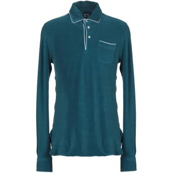 《9/20まで! 限定セール開催中》DOPPIAA メンズ ポロシャツ ブルーグレー S コットン 100%