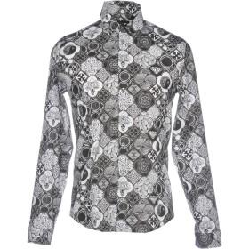《期間限定 セール開催中》PATRIZIA PEPE メンズ シャツ スチールグレー 48 コットン 72% / ナイロン 24% / ポリウレタン 4%