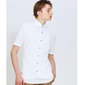 ABAHOUSE / アバハウス COOL MAX カットピケ半袖シャツ