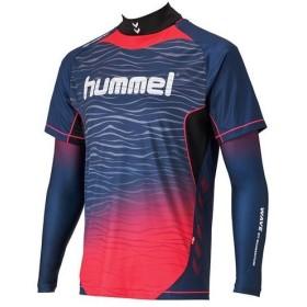 ヒュンメル メンズ トレーニングウェア サッカー フットサル HPFC-プラシャツ+インナーセット HAP7109 7024 ネイビー×S.ピンク