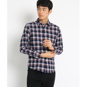 THE SHOP TK(Men)(ザ ショップ ティーケー(メンズ)) コットン起毛ネルシャツ