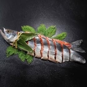 《漁師直送》わら製法熟成秋鮭山漬姿切身【1.3~1.5kg】