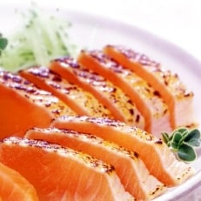 北海道サーモンたたき(炙り)